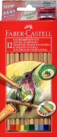 Eco Matite Naturali Colorate - 12 Pz. con Temperino