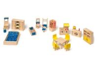 Mobili con Cucina per Casetta delle Bambole - Legler