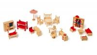 Mobili per Casetta delle Bambole e Giardino - Legler