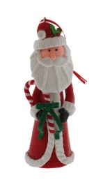 Natalini Scintillanti - Babbo Natale Alto con Fiocco Verde