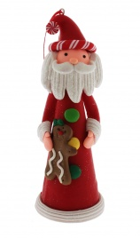Natalini Scintillanti - Babbo Natale Alto con Orsetto