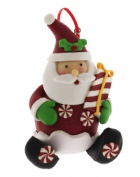 Natalini Scintillanti - Babbo Natale con Pacco