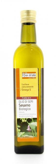 Olio di semi sesamo bio 500 ml fior di loto - Olio di sesamo per cucinare ...