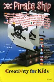 Pirate Ship - Modellino in Legno di Nave Pirata