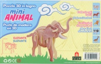Puzzle 3D in Legno - Elefante