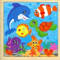 Puzzle in Legno - Animali Marini - Crealibri