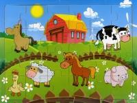 Animali della Fattoria - Puzzle in Legno