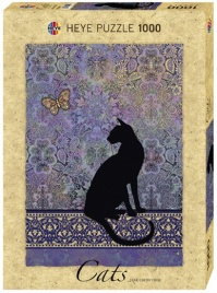 Puzzle Silhouette - Cats - 1000 Pezzi