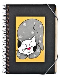 Quaderno Spirale i Gatti di Nic Nero con Penna