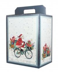 Scatola Natalizia Vuota - Babbo Natale in Bicicletta