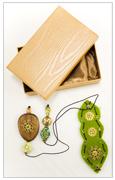 Segnalibro Verde con Pietre Swarovski