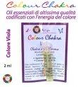 Colour Chakra Oil Viola 2 ml - Apertura, creatività, consapevolezza