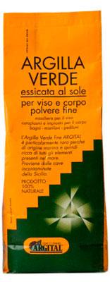 Argilla Verde Essicata al Sole per Viso e Corpo - 2500 gr