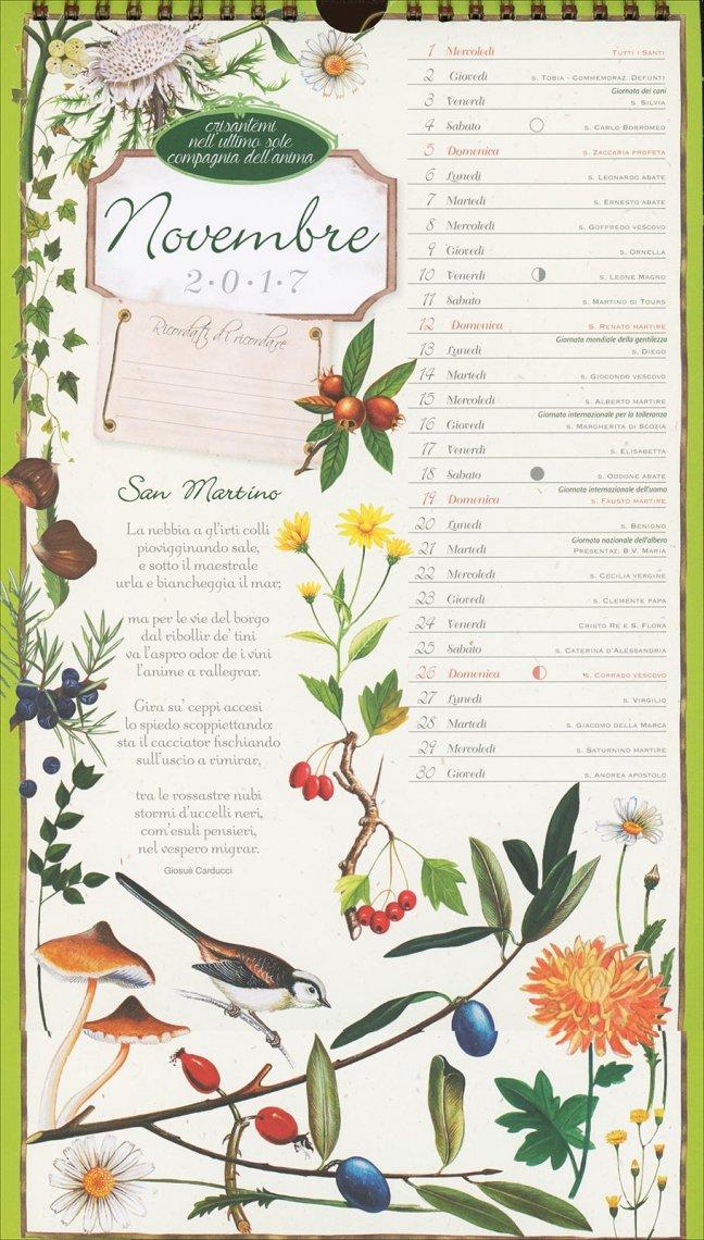 Calendario 2017 - Poesie in Fiore