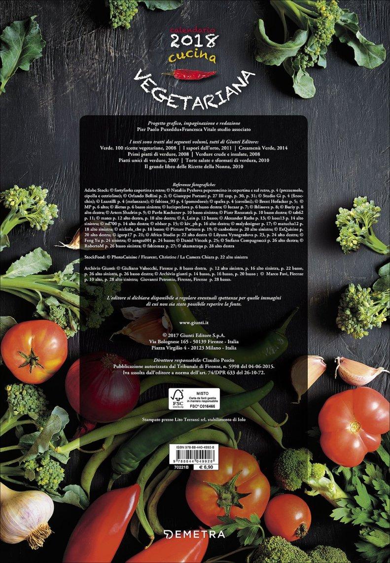 Cucina Vegetariana - Calendario 2017