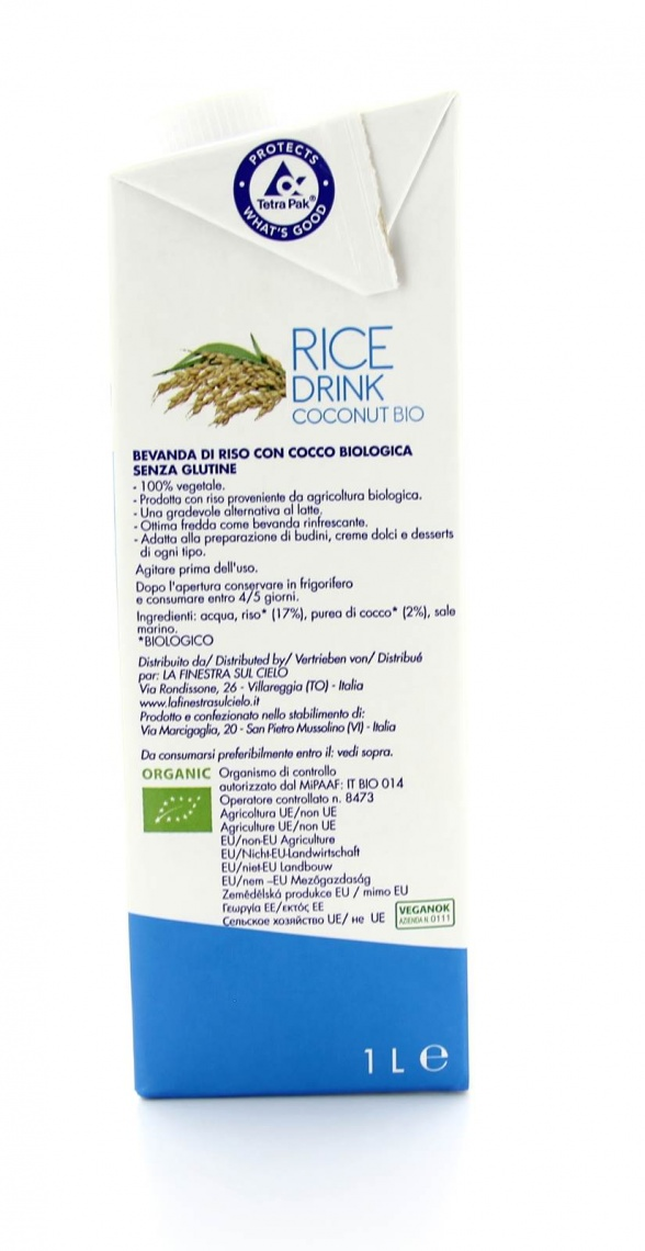 Rice drink coconut bio la finestra sul cielo - La finestra nel cielo ...