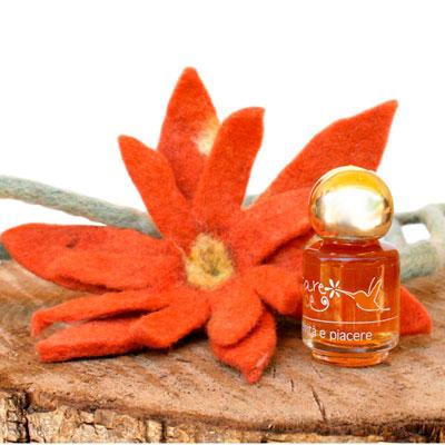 Fiore di Feltro Arancione con Nettare di Luce - Creatività e Piacere