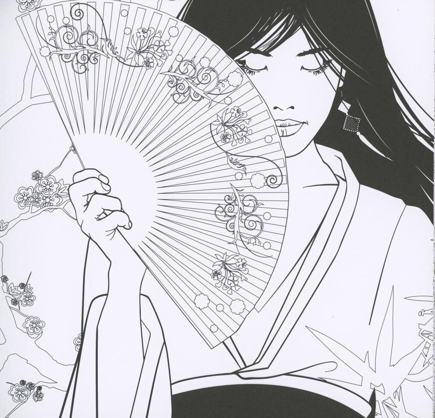 Giardino giapponese album antistress for Disegni paesaggi da colorare