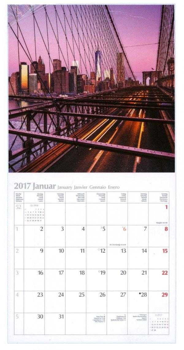Calendario 2017 - New York