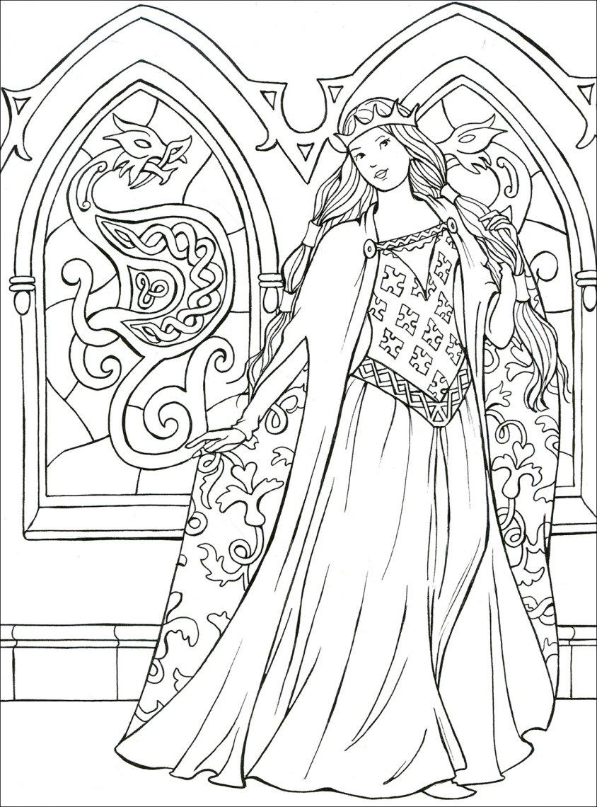 Principesse da colorare macro c 39 arte libro for Disegni da colorare per adulti e ragazzi