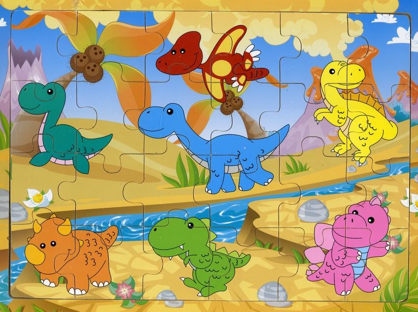 Dinosauri - Puzzle in Legno