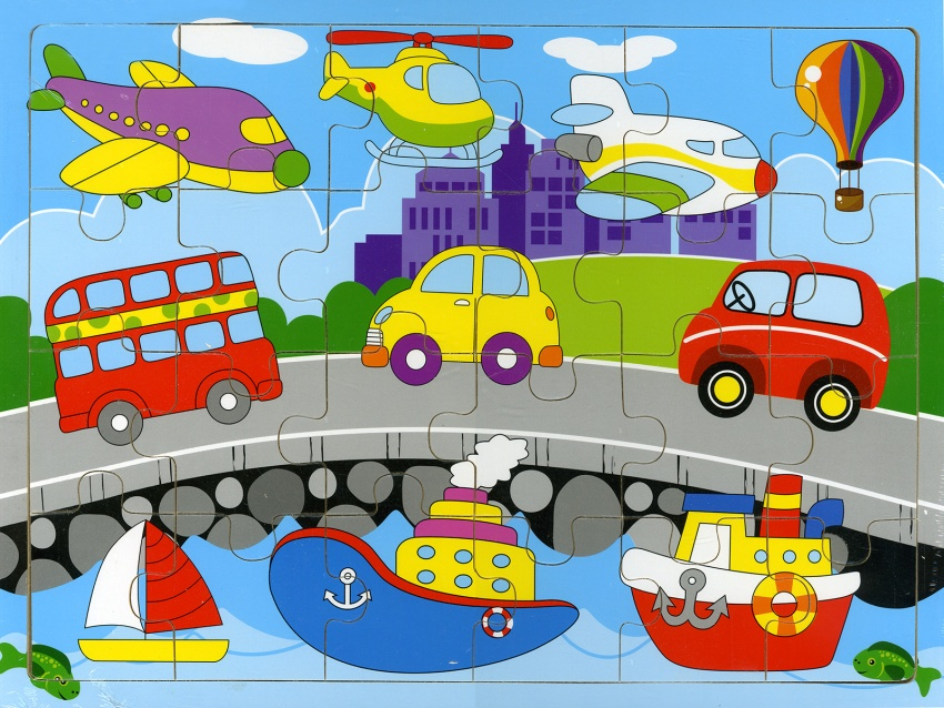 Mezzi di Trasporto - Puzzle in Legno