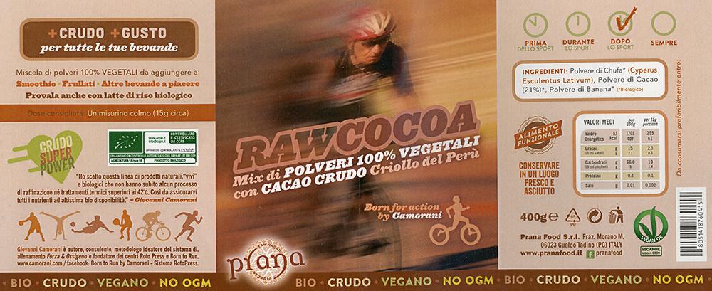 Raw Cocoa - Mix di Polveri 100% Vegetali con Cacao Crudo