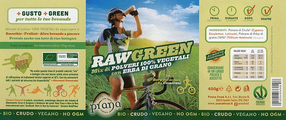 Raw Green Bio - Mix di Polveri 100% Vegetali con Erba di Grano