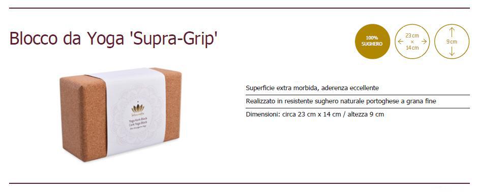 blocco da Yoga Supra-Grip in sughero