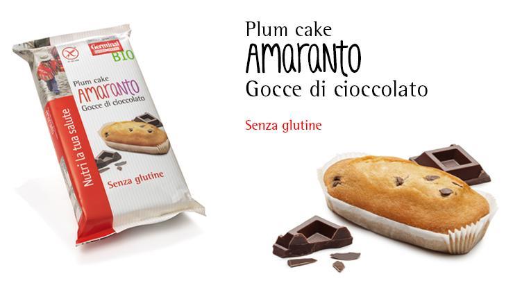 Senza Glutine - Plumcake Amaranto Gocce di Cioccolato