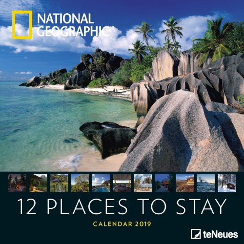 Calendario 12 Places to Stay 2019