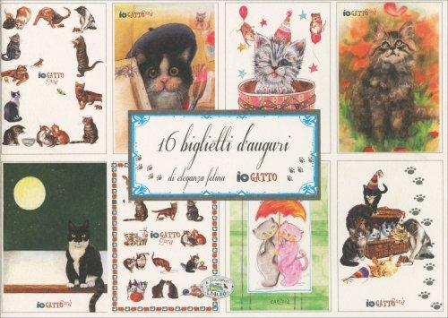 16 Biglietti d'Auguri di Eleganza Felina - Io Gatto