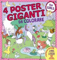 4 Poster Giganti da Colorare - For Girls