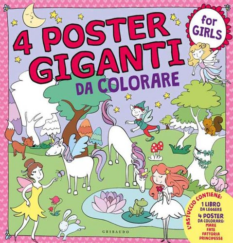 4 Poster Giganti da Colorare - For Girls