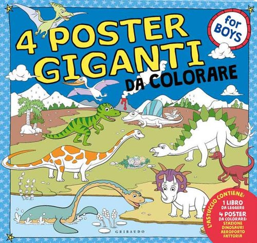 4 Poster Giganti da Colorare - For Boys