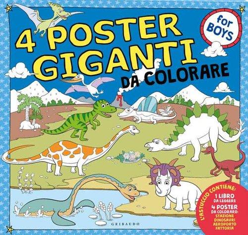 4 Poster Giganti da Colorare - For Boys