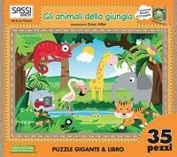 Gli Animali della Giungla - Libro Puzzle