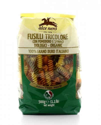 Fusilli Tricolore - Pomodori e Spinaci