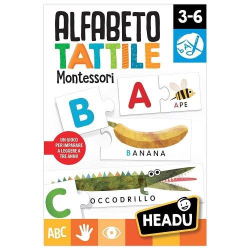 Alfabeto Tattile Montessori 3/6 Anni