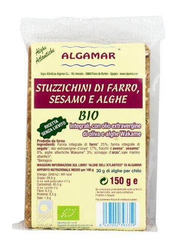 Stuzzichini di Farro Sesamo e Alghe Bio