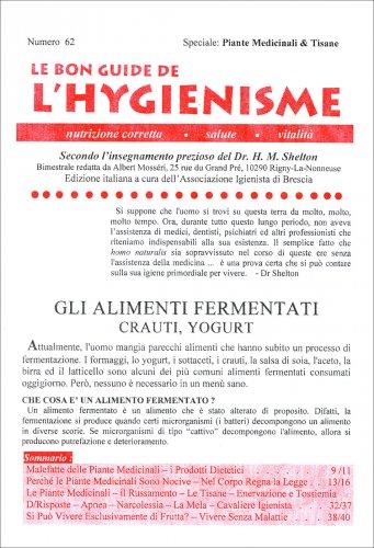 La Bon Guide de l'Hygienisme - Numero 62 - Speciale Piante Medicinali e Tisane