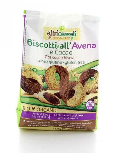 Biscotti all'Avena e Cacao Senza Glutine Bio