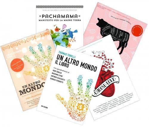 Un Altro Mondo - Libro con DVD + Food Relovution DVD + Pachamama DVD  + Choose Love DVD