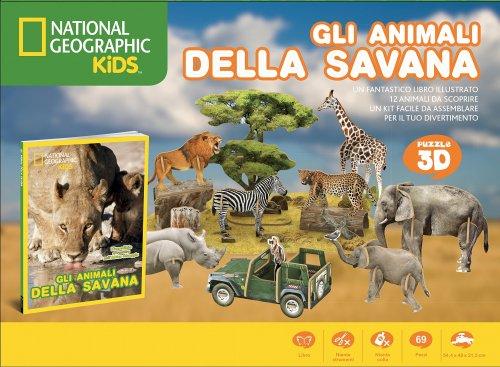 Gli Animali della Savana - Puzzle 3D