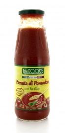 PASSATA DI POMODORO ITALIANO CON BASILICO Prodotti biologici