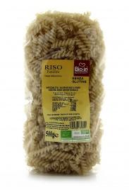 FUSILLI DI RISO SEMINTEGRALE BIO Specialità alimentare a base di riso semintegrale italiano di Specialità alimentare a base di riso semintegrale italiano