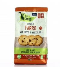 Biscotti di Farro con Gocce di Cioccolato - Bio Vegando