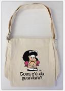"""Tracolla Stoffa Mafalda - """"Cosa c'è da Guardare"""""""