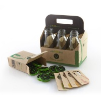 Box 6 Bottiglie per Succhi + 12 Tappi