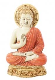 Riproduzione da Parete Buddha in Vitarka Mudra Colorata